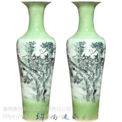 陶瓷赏瓶粉彩瓷花瓶雕龙陶瓷大花瓶摆设大花瓶