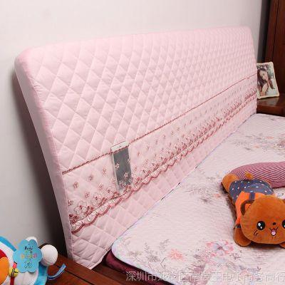 全包布艺软包床头罩床头套简约现代实木保护套防尘罩1.5m床靠背罩