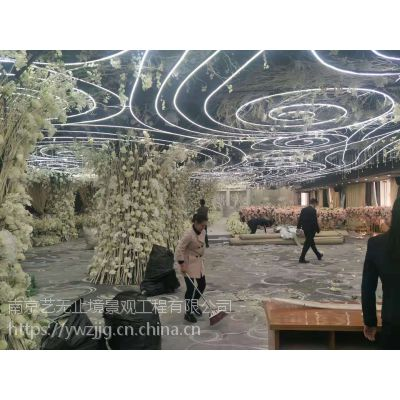婚庆布景礼堂布置花艺装饰酒店婚礼堂一站式布景 设计 全国可接帷幔