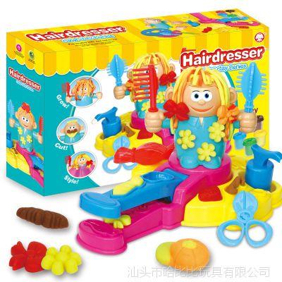 抖音 3D彩泥疯狂理发店主题橡皮泥模具工具套装DIY玩具 厂家直销