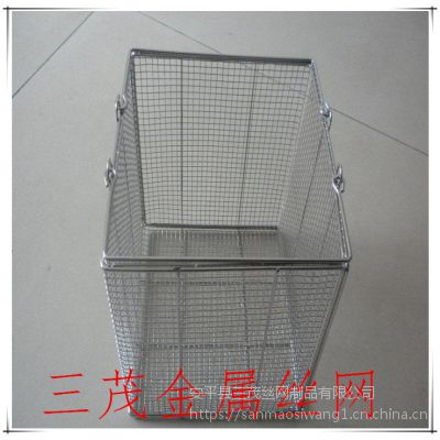 厂家直销不锈钢消毒筐 医用网篮