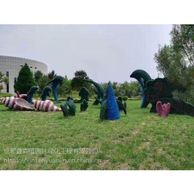 直销仿真绿雕园林景观绿雕,西游记里面猪八戒仿真植物造型