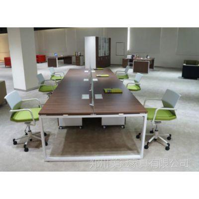 建材新闻:南乐口字腿简约电脑桌+清丰员工办公台(分线槽设计)