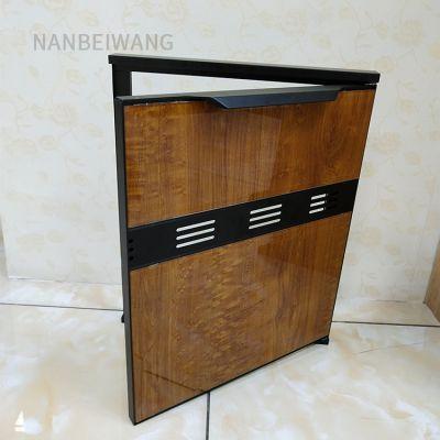 南北旺橱柜晶钢门 铝合金铝材型材 全铝门料 豪华款带外框