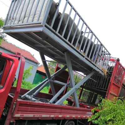 猪场用电动液压升降上猪台 载重3吨固定剪叉式升降机批发商