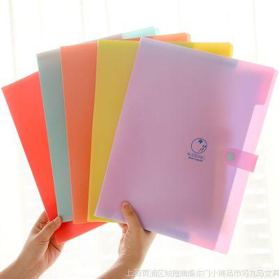 小马百货 韩国文具批发 乐麦水果派对文件夹试卷夹3入5入8入 A4