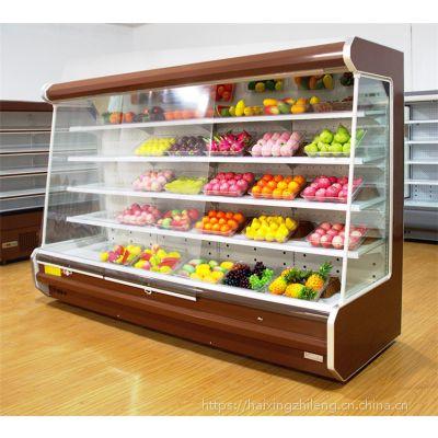 新乡/鹤壁哪里卖水果风幕柜 水果店保鲜柜展示柜厂家定做