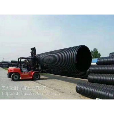 圣大管业浙江义乌钢带增强聚乙烯螺旋波纹管市政水利排污钢塑复合管厂家直销