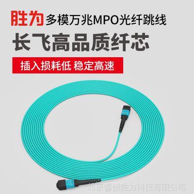 胜为厂家直销 多模OM4万兆MPO-MPO母头8芯3米 40G光模块光纤跳线 FMPP-8003