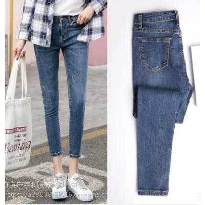 2019便宜牛仔裤清货女装裤子弹力小脚裤便宜女士铅笔裤处理2-5元清仓
