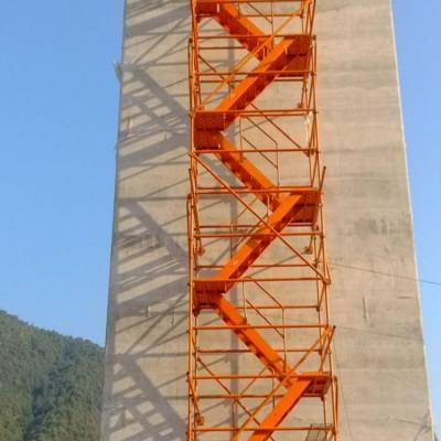 建筑安全爬梯桥梁施工爬梯安全通道爬梯箱式梯笼爬梯通达优质商家