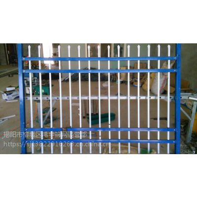 广东省鸿宇筛网施工安全园林锌钢护栏 防攀爬围墙定制 -285