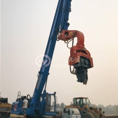 挖掘机振动式打桩锤 可打钢板桩 水泥桩 东奕机械