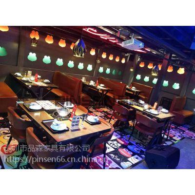 深圳火锅桌椅组合,可折叠长方形火锅桌 简约现代