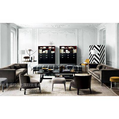 BB ITALIA家具意大利家具简约现代风格客厅布艺真皮沙发
