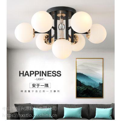 北欧式客厅吊灯大气奢华卧室灯餐厅灯酒店别墅水晶灯具