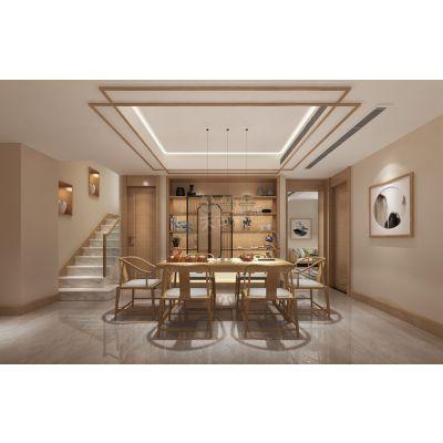 北京城建云熙台装修,云熙台联排独栋类独栋别墅设计案例,天古装饰新中式风格