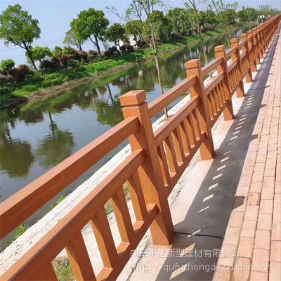 园林景观小品水泥仿藤仿木护栏/河道装饰仿树皮栏杆厂家低价出售