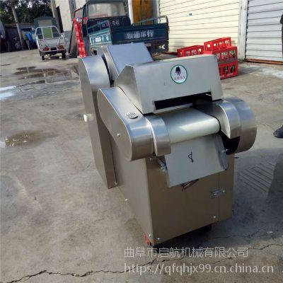 不锈钢大型竹笋切片机 大产量桑叶切丝机型号 启航竹笋切块机