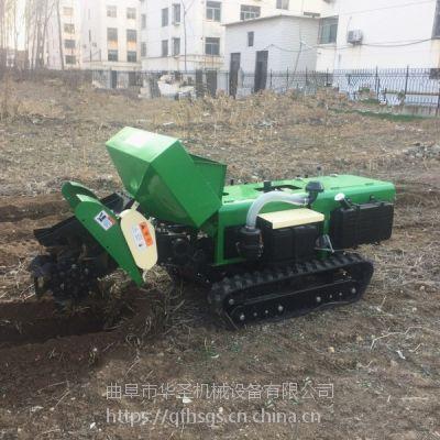 使用简单的履带式开沟机自走式耕整回填一体机