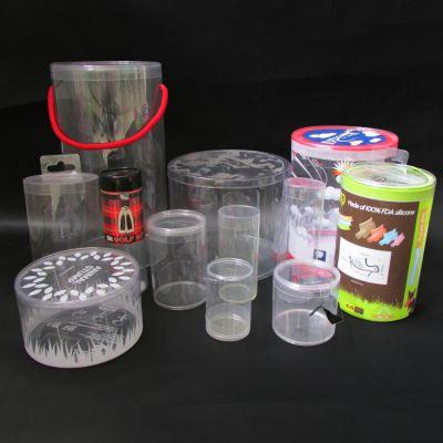 深圳PVC卷边圆筒 东莞包装盒 广州pet吸塑塑料筒 透明筒