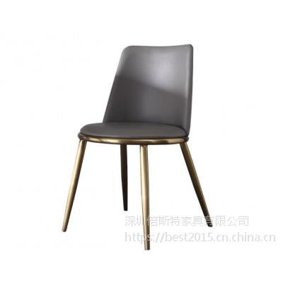 倍斯特简约现代电镀餐椅创意中餐休闲奶茶甜品店厂家定制
