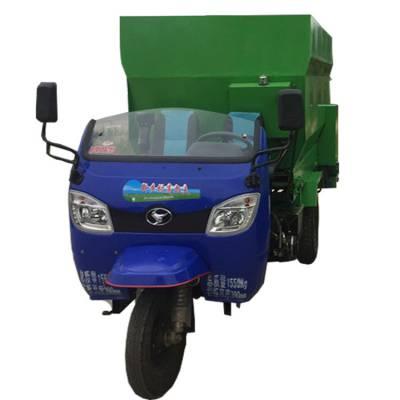 养殖自动化撒料车 草料喂养运料车 嘉祥牛场专用车
