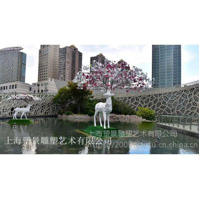 九江不锈钢麋鹿梅花鹿雕塑 优质厂家制作出售