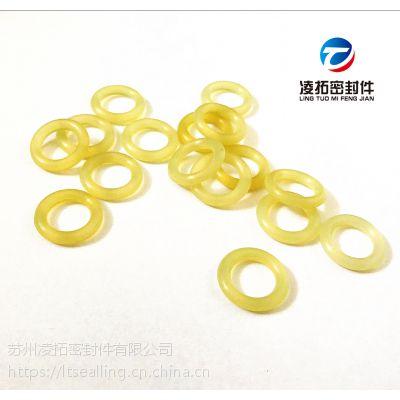 减震聚氨酯O型圈PU耐高压耐磨硬度90耐油米黄色橡皮胶圈