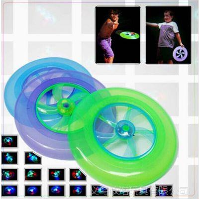 儿童户外玩具 发光飞盘 旋转飞轮彩灯UFO 回旋飞盘 玩具批发