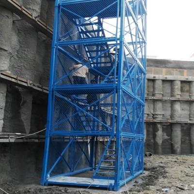 广州安全梯笼通达安全梯笼厂家销售箱式施工梯笼信誉保证