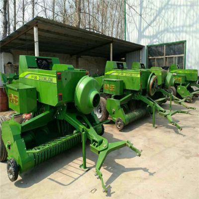自产自销秸秆捡拾粉碎方捆机 玉米秸秆打捆机 牵引式打捆机价格