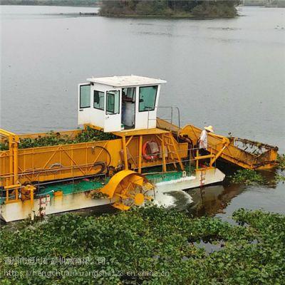 福建清理湖面水草机械 广东水花生蓝藻收割草船hc