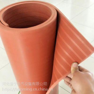 防滑红色5mm绝缘橡胶板 天然橡胶生产
