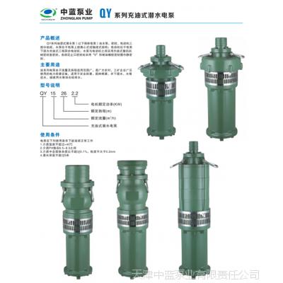 厂家批发充油式潜水电泵