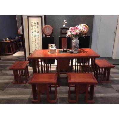 中山红木家具茶台批发厂家 名琢世家品牌
