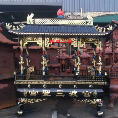 厂家直销铸铁长方形高香香炉 道观宫观露天香炉