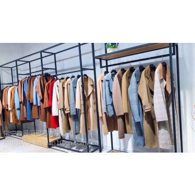 双面尼大衣 库存18年冬季女装品牌折扣批发价格便宜