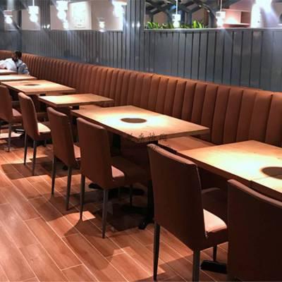 嘉兴西餐厅家具定做,高级靠墙卡座沙发桌椅组合
