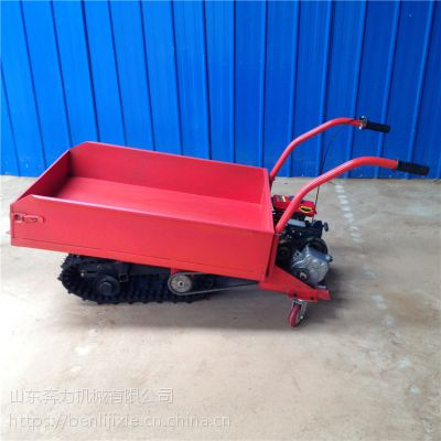 前置料斗多用型履带车 便携式小型搬运车 山东奔力LD