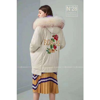 一线品牌折扣店女装N28羽绒服尾货市场现货直批