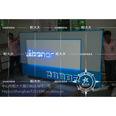 荣耀2.0背景墙 手机配件柜定制 手机展示柜厂家