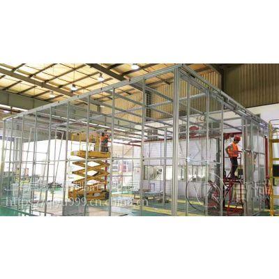 启域定制铝型材框架安全围栏/机械设备防护栏提供报价