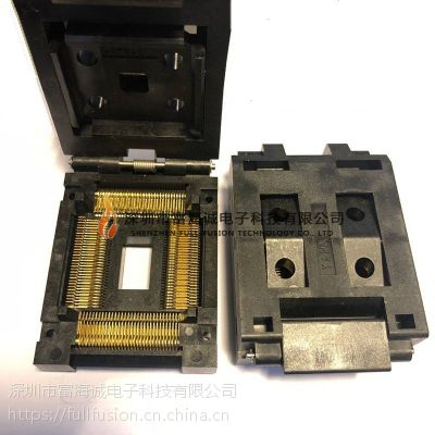 Yamaichi IC插座 IC51-1284-976-2 QFP128P 0.8mm间距 测试座