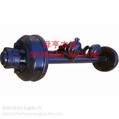 舜亨农机长期供应 可定制拖车车轴 减震板 拖车转盘 气刹后桥 轮胎轮毂钢圈