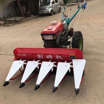 1.2米宽艾草割晒机割台 四轮链条小麦割晒机 防缠绕苜蓿草收割机