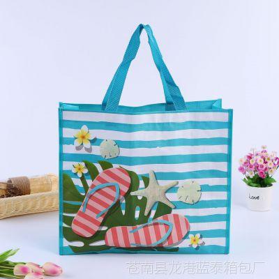 彩印覆膜编织手提袋子定制 环保服装购物袋 广告促销无纺布批发