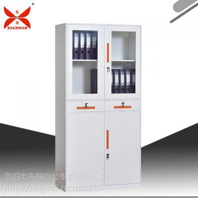 档案室钢制文件办公柜通体玻璃文件柜