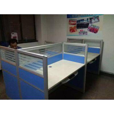 雷业 职员屏风隔断桌 四人位办公桌简约现代公司办工作桌屏风双人电脑办工桌椅组合