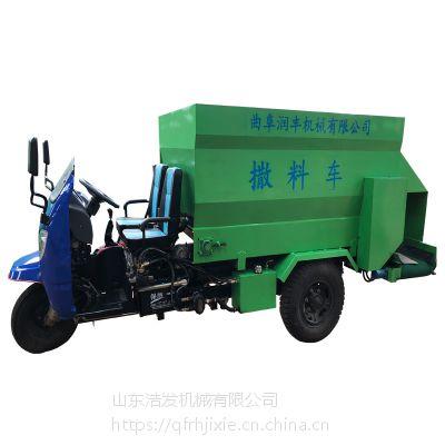 全自动柴油撒料车 现代化养殖撒料车